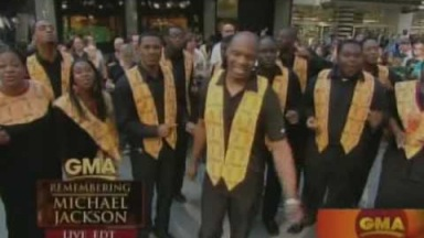 Harlem Gospel Choir live in GMA - Remembering Michael Jakcson