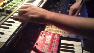 Techno Jam 1 with Korg ESX-1, Roland JX-305, Korg microKorg and effects